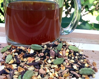Harlow Chai Tea, Loose Leaf Tea, Assam Black Tea, Ginger, Cardamom, Clove, Orange Peel