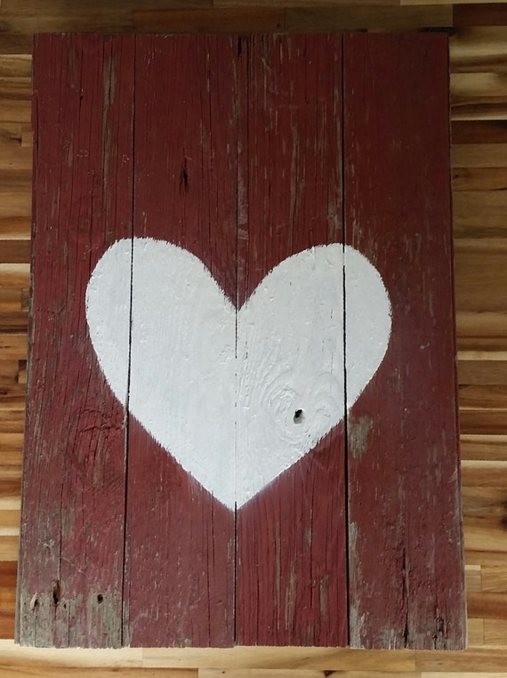 Red Barn Wall Decor : Rustic red reclaimed barn wood wall art by dadandsiswood