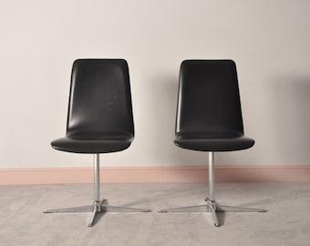 Set of 4 MID CENTURY MODERN swivel chairs