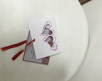 50 custom wedding invitations with carving