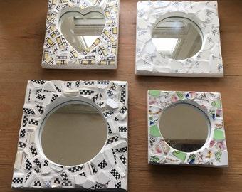 Broken china mosaic mirrors