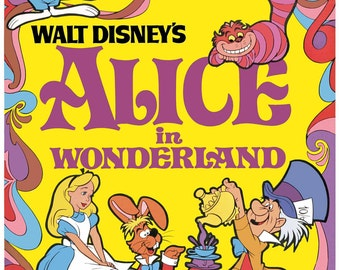 FREE SHIPPING Alice in Wonderland movie poster 11x17