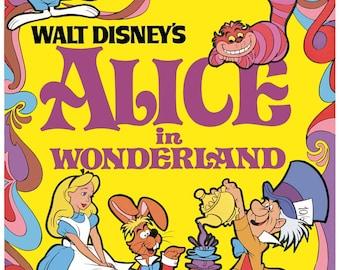 Alice in Wonderland movie poster 11x17