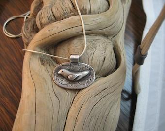 bird and vine pendant