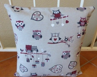 cushion cover, owls grounds