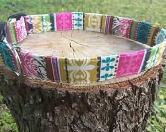 Moroccan Stripe Dog Collar - Colorful Dog Collar