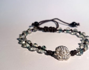 Nature Inspired Silver Bead Bracelet