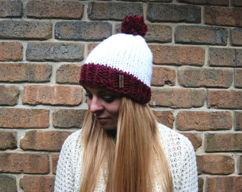Hand Knit beanie - 100% handmade - **Ready to ship