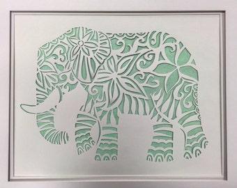 Elephant Paper Cut
