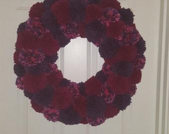 Plum Handmade Door Wreath