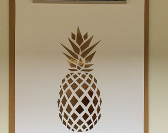 A4 Copper Foil Pineapple Print!