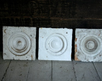 Vintage Chippy Corner Window Trim - Architectural - Altered Art - Mixed Media - Assemblage - Home Decor