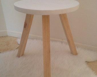 Round top timber stool