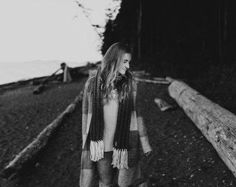 CLARET - THE WESTWOOD scarf - Fringe Scarf - Winter Scarf