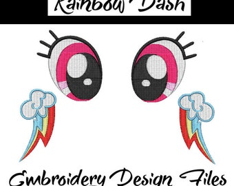 Rainbow Dash Embroidery Files