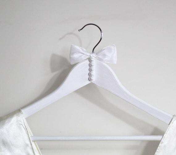 White Wedding Dress Hanger: Wedding Dress HangerWedding Hanger Bridal Gown HangerWooden