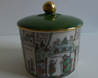 French art pottery limoges Bayeux Tapestry ' Mathilde'  FREE POSTAGE UK