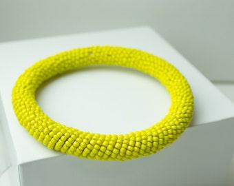 Maasai Bead Bracelet // Banana Yellow