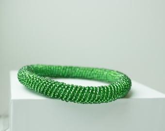 Maasai Bead Bracelet // Emerald