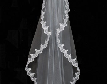 Scallop Manilla Wedding Veil