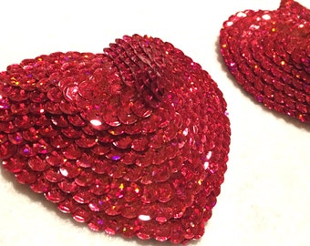 Heart Shaped Sequin Pasties