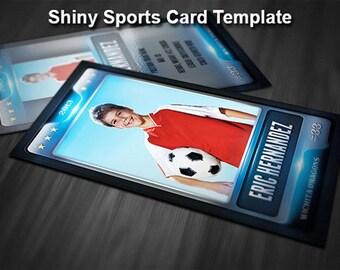 Shiny Sports Card Template