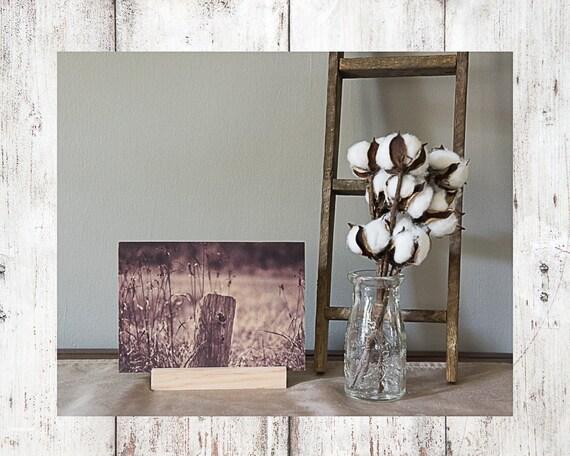 Wood Post Photograph - Wood Print - Fine Art Photography - Lake Pictures - Home Decor - Desk Shelf or Mantle Vignette - Christmas Gift