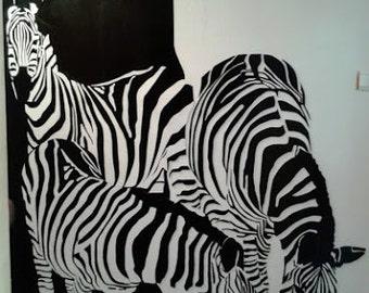 Zebra Animal Interior Design Decoration Hand Made Wooden