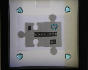 You complete me valentines day picture frame