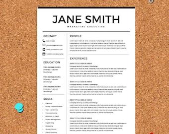 resume for microsoft word minimal resume template cv template cover letter for ms - Best Resume Template Microsoft Word
