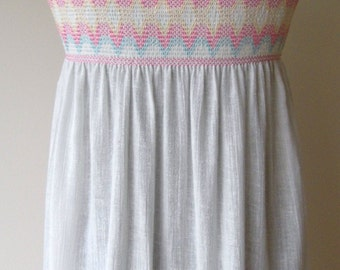 "1970s cheescloth sundress 34"" bust"