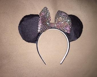 Disney custom made Sparkle Mickey Mouse ears