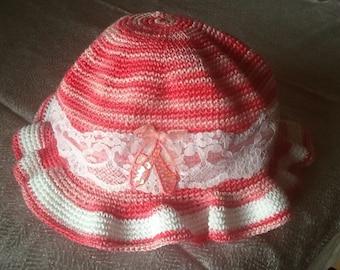Childs crochet sun hat.