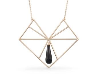Arrow Onyx necklace