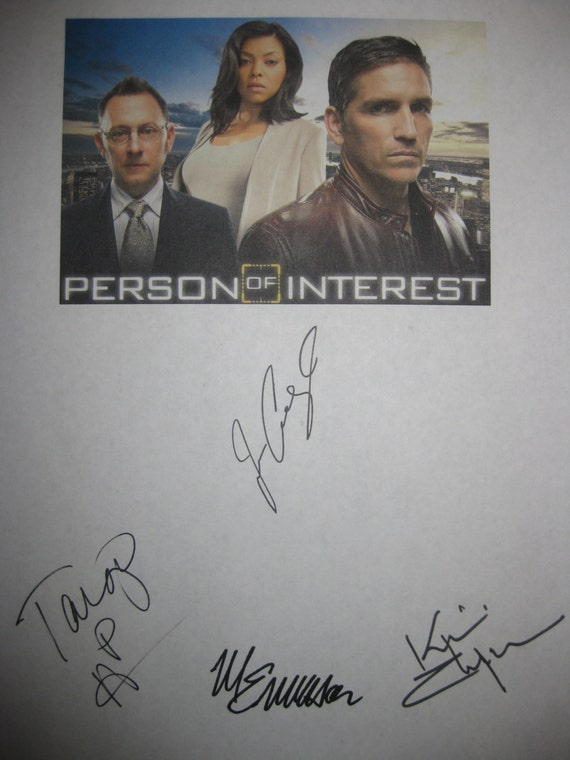 Person of Interest Signed TV Pilot Screenplay Script X4 Autograph Jim Caviezel Taraji P Henson Kevin Chapman Michael Emerson signature