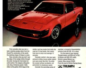 Triumph TR7 vintage magazine ad 1960's