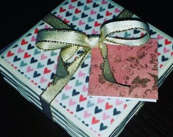 Valentine's Day Heart Coasters