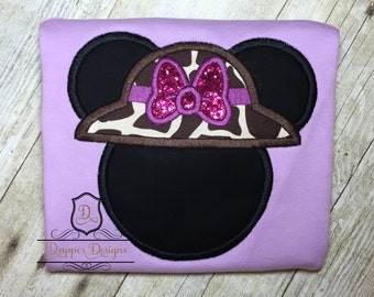 Girl Safari Mouse Machine Embroidery Applique Design Use Coupon Code PRINCESS for 15% Off