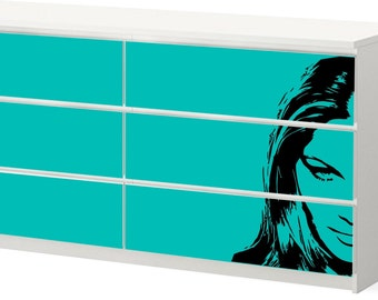 Vinyl Sticker IKEA - Sketchy Face on Green / F006