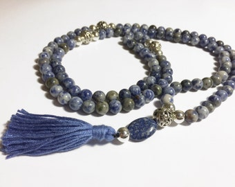 Mala with 108 8mm Sodalite Beads