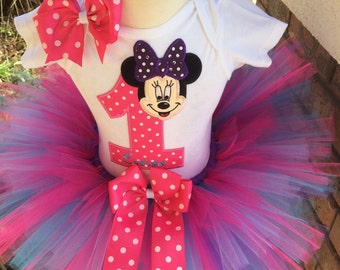 So Affordable Minnie Mouse Birthday Party Tutu Outfit Dress Set Handmade