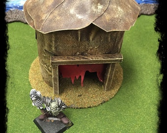 Warhammer, Tabletop, Terrain, Games, Miniatures, Hut, Orc, Tribal, Building, Shaman, Goblin, RP, Roleplaying, Role Playing, Age of Sigmar