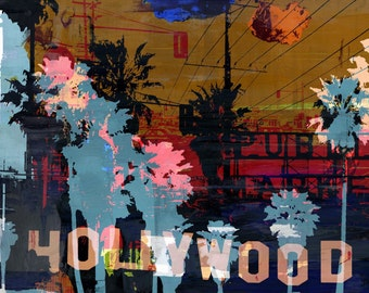 LOS ANGELES XIII by Sven Pfrommer - 100x100cm Artwork is ready to hang.