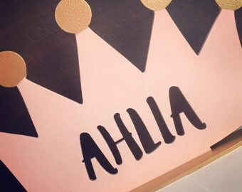 Personalised Princess Crown Nursery Decor Girls Bedroom Girls Party Table Centrepiece Princess Crown Princess Party Personalised Gift