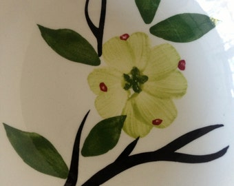 Two Vintage Modern Hand-Painted Dixie Dogwood Fruit/Berry/Dessert Bowls by Joni for Stetson--Flawless