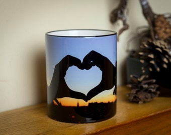 Love Heart Hands Mug/Cup For him or her Tea/coffee Novelty present Valentine's