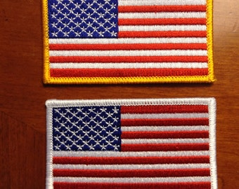 "American Flag Patches 2""x3.5"""