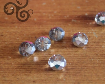 lot of 6 plastic beads to appearance of 8mm diameter diamond
