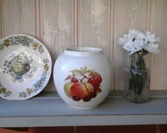Sadler vintage ginger jar,Sadler ginger jar,Sadler vase,sadler pot,Sadler,vintage,Fruit ginger pot,1980s,vase,Sadler storage,vintage vase