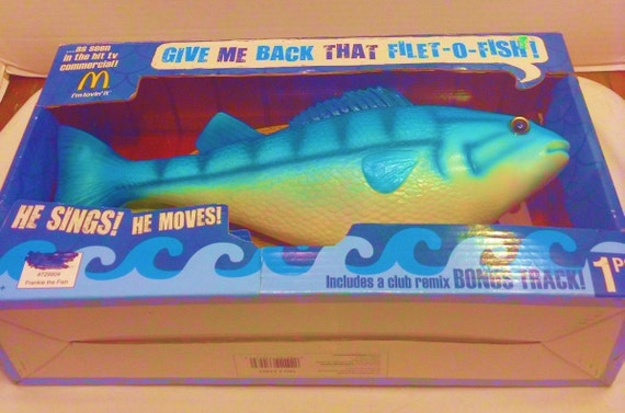 Mint frankie the fish singing mcdonald 39 s filet o fish wall for Talking fish on wall